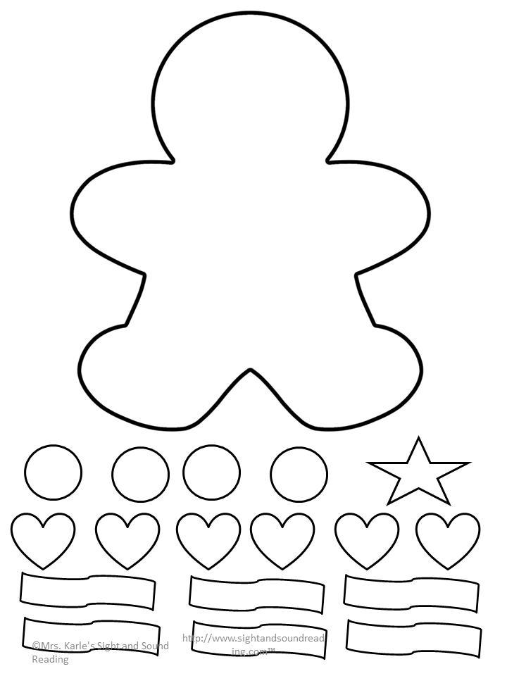 Gingerbread Man Cutout Template - and Lesson Plan ...