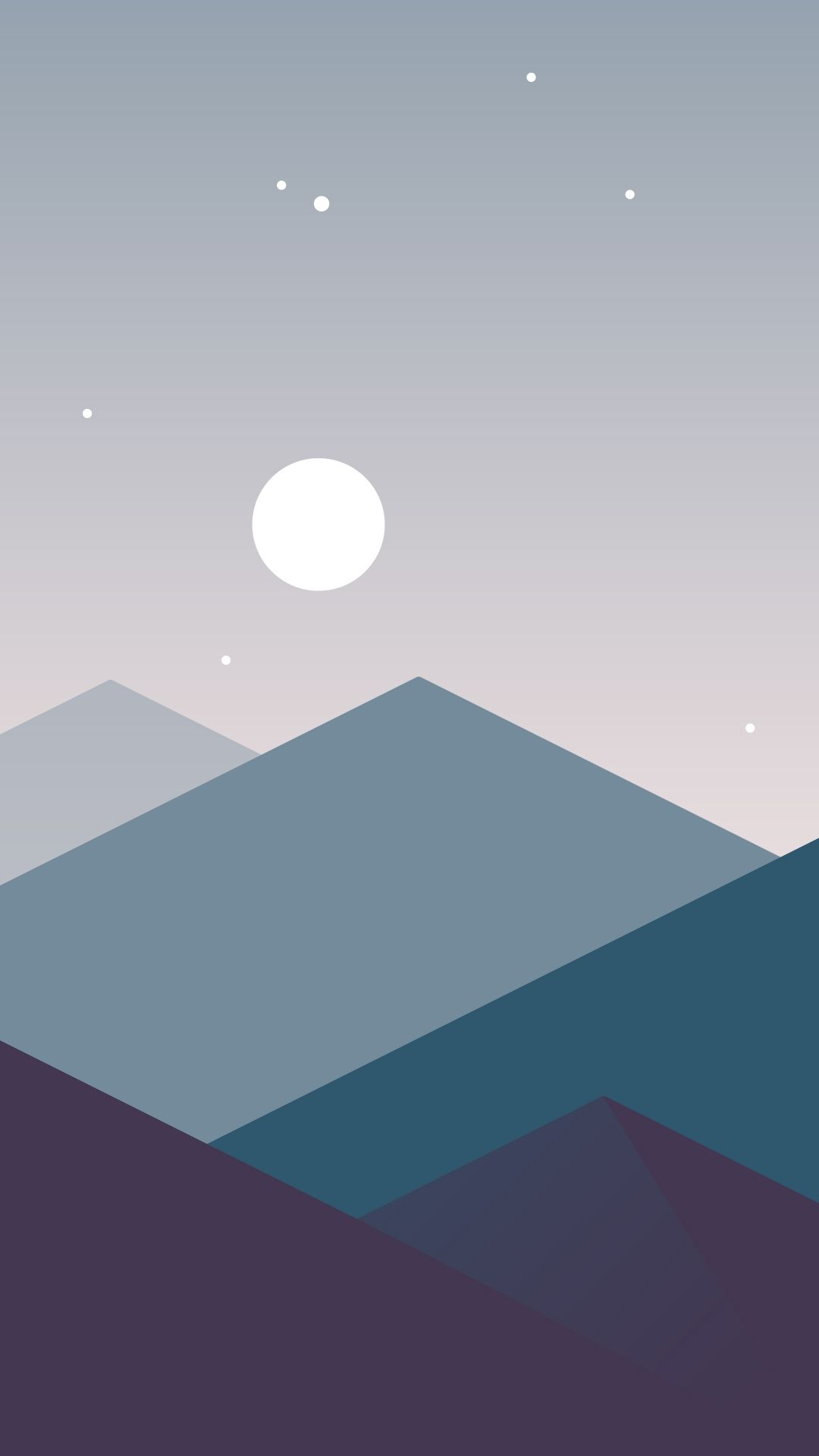 Minimalistic Mountains Night Moon Iphone Wallpaper Minimalist Wallpaper Easy Canvas Art Painting Art Projects
