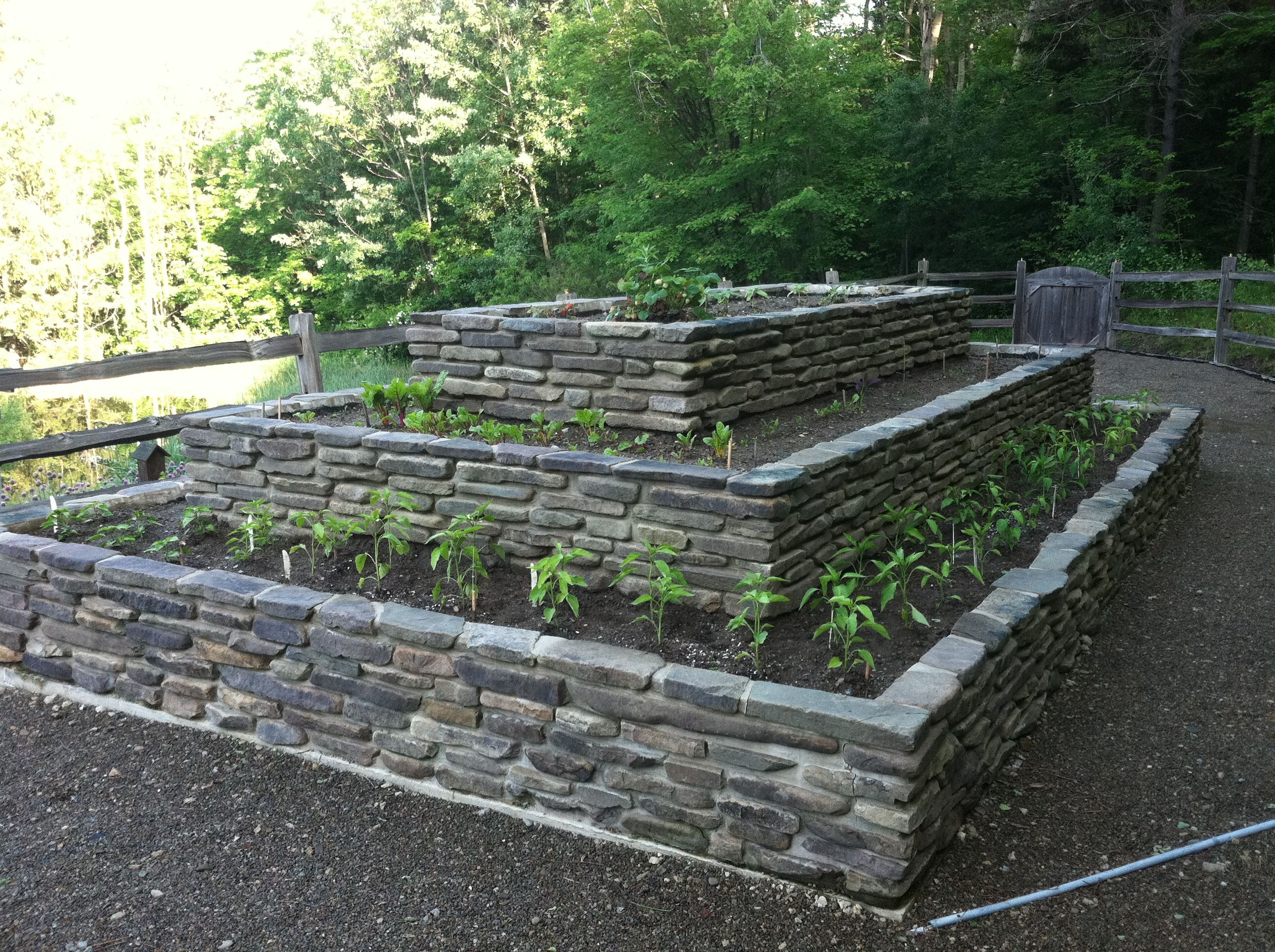 raised stone garden beds buffalo ny landscape