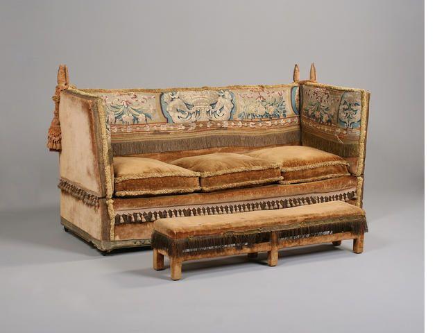 A Velvet Covered Knole Sofa English Late 19th Century Bonhams Victorian