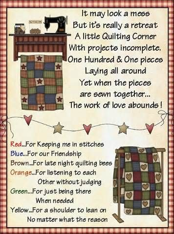 Quilting Friends M&M candy topper poem treat bag set - 1 ...