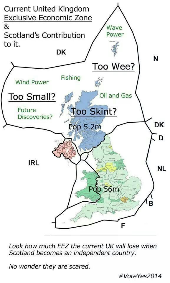Scotland is bigger than England!