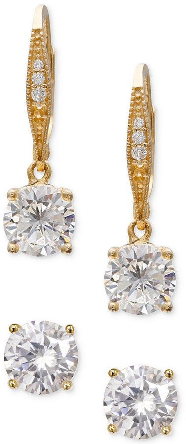 abc516893 Giani Bernini 2-Pc. Cubic Zirconia Earring Set in 18k Rose Gold-Plated  Sterling Silver, Created for Macy's