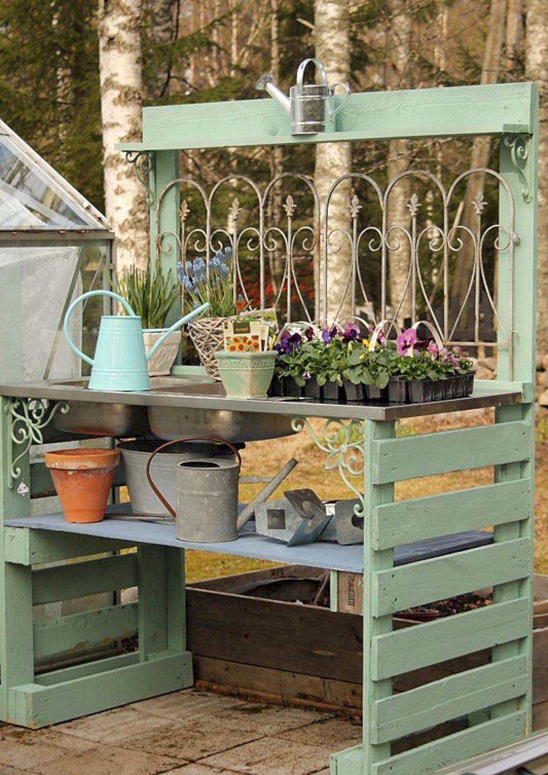 Genius and Low Budget Pallet Garden Bench for Your ...