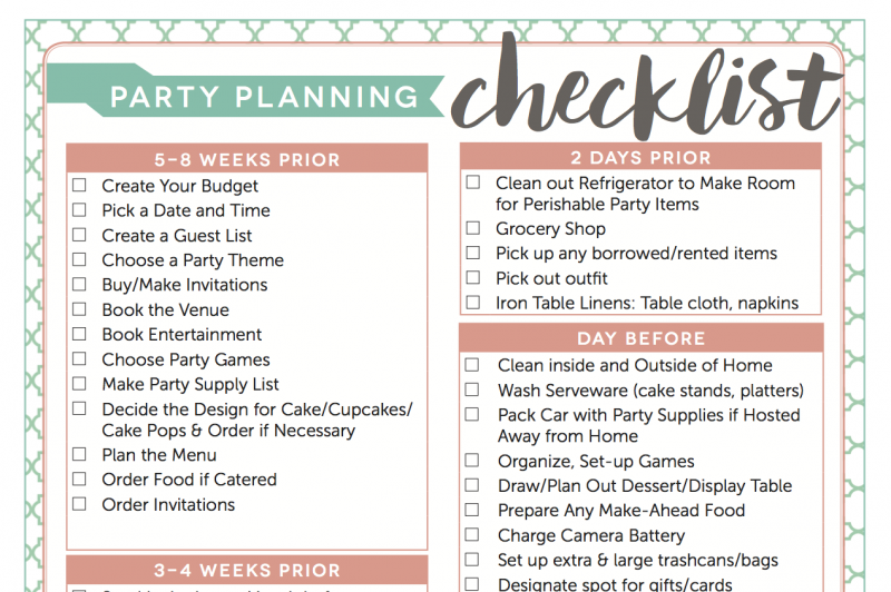 Access My Free Party Planning Checklist  Party Planning Checklist