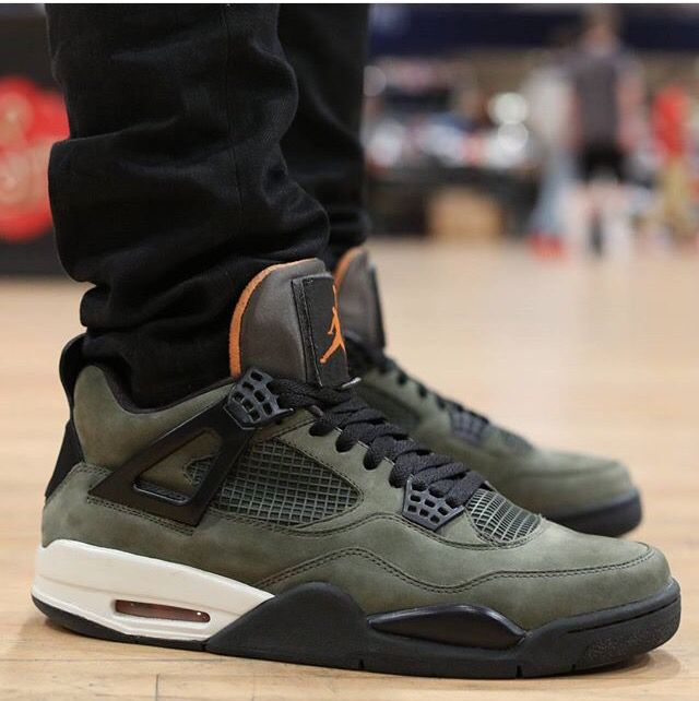 official photos 05702 57498 Air Jordan 4 (IV) UNDFTD / Undefeated – Olive / Oiled Suede ...