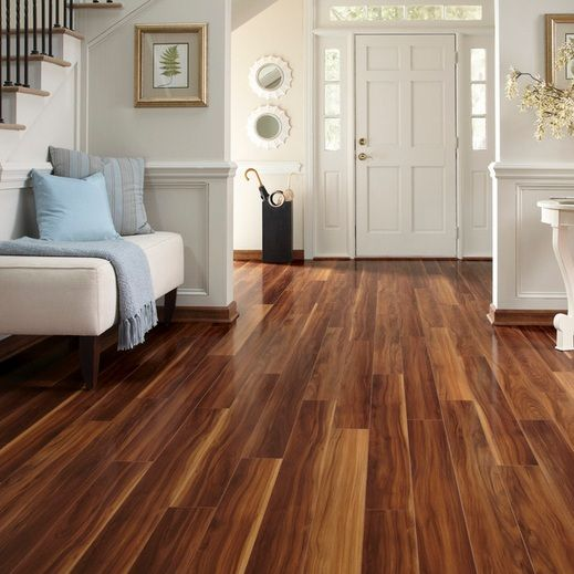 White Entry Room Decor With Brazilian Walnut Flooring Flooring