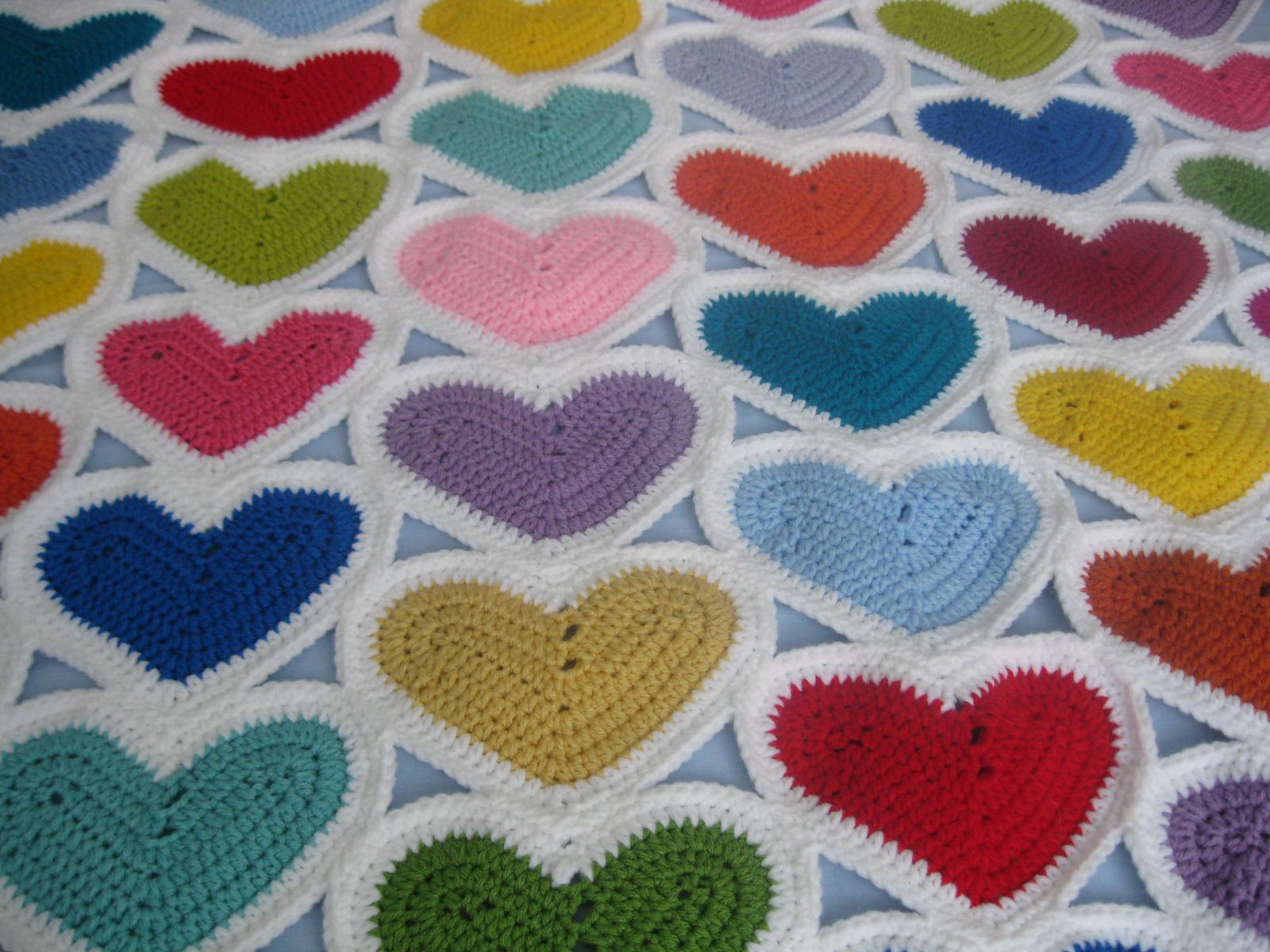 Little Heart Scrapghan pattern by Julie Lapalme | Pinterest