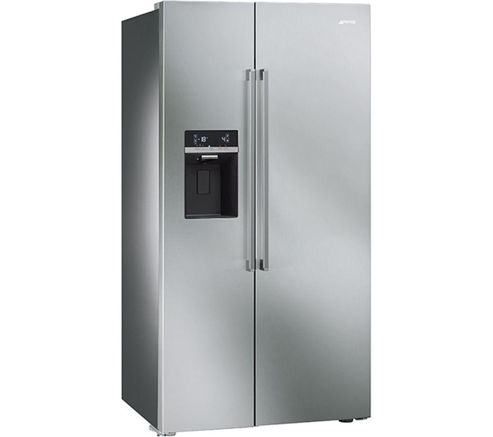 SMEG SBS63XED American-Style Fridge Freezer - Stainless Steel ...