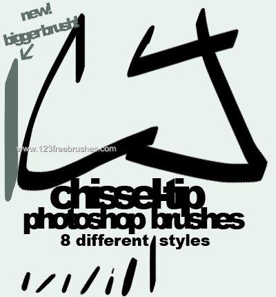 Chisel - Download  Photoshop brush https://www.123freebrushes.com/chisel/ , Published in #GrungeSplatter. More Free Grunge & Splatter Brushes, http://www.123freebrushes.com/free-brushes/grunge-splatter/ | #123freebrushes