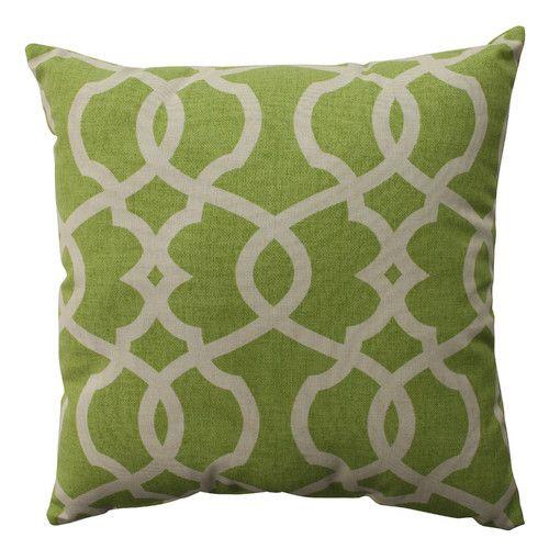 Pillow Perfect Lattice Damask Cotton Pillow & Reviews | Wayfair