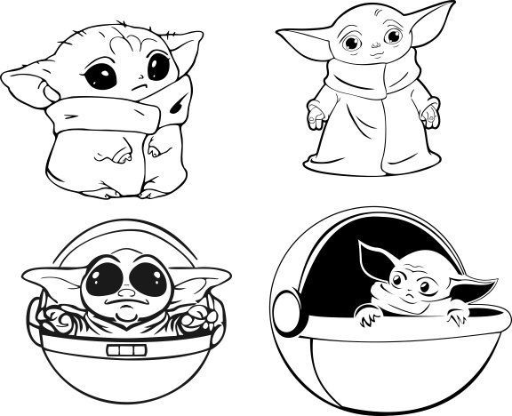 This Item Is Unavailable Baby Yoda The Mandalorian Star Wars Vector Svg File Decal Stickers Vector In 2020 Star Wars Drawings Cute Coloring Pages Disney Movie Art