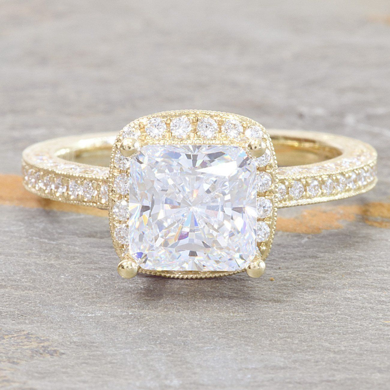 14k Yellow Gold Diamond Halo Engagement Ring Rose Gold Oval