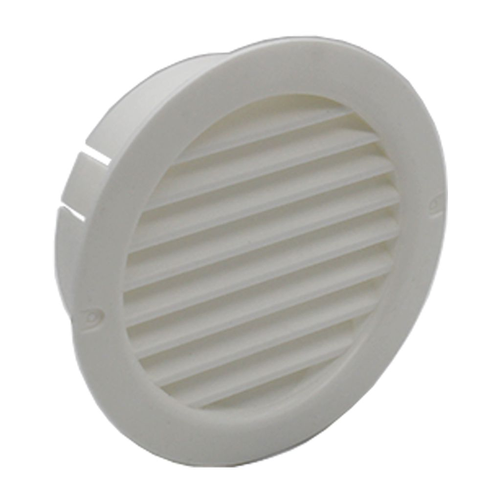 "100mm 4/"" Ducting White Gravity Flap Wall Kitchen Extractor Fan Ventilation Grill"