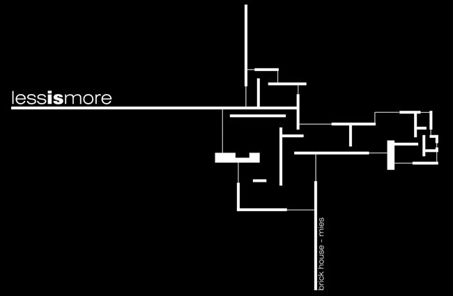 less is more brick house mies van der rohe mies. Black Bedroom Furniture Sets. Home Design Ideas