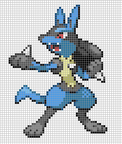 Lucario By Hama Girl On Deviantart Pixel Art Pokemon Pixel Art Anime Pixel Art