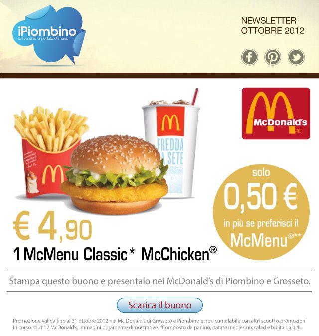#iPiombino promozione ottobre McDonald's