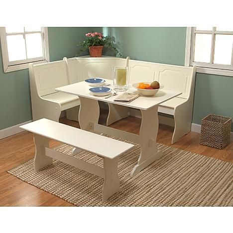 3 pc. Nook Dining Set - Antique White