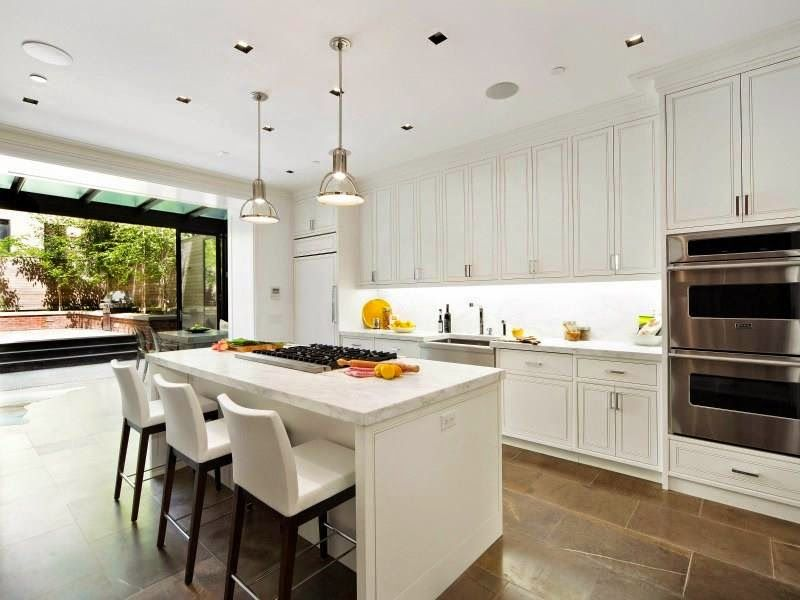 Wonderful COCOCOZY: $13 MILLION DOLLAR NYC TOWNHOUSE   White Kitchen, Garden Terrace  View In New