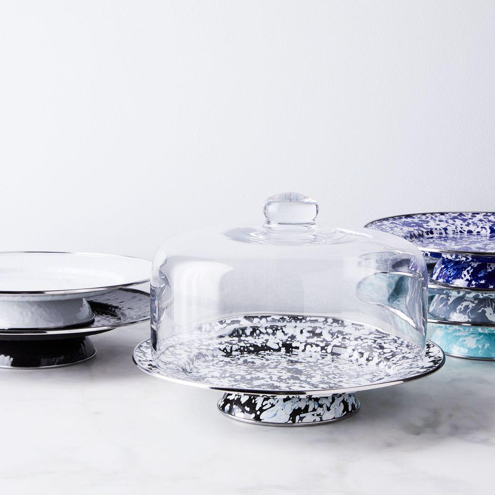 Enamel cake stand cake platter cake stand dinnerware set