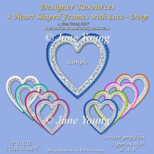 Heart-Shaped Frames - Deep Colours : The Designer Twins ...where creativity encounters quality and value