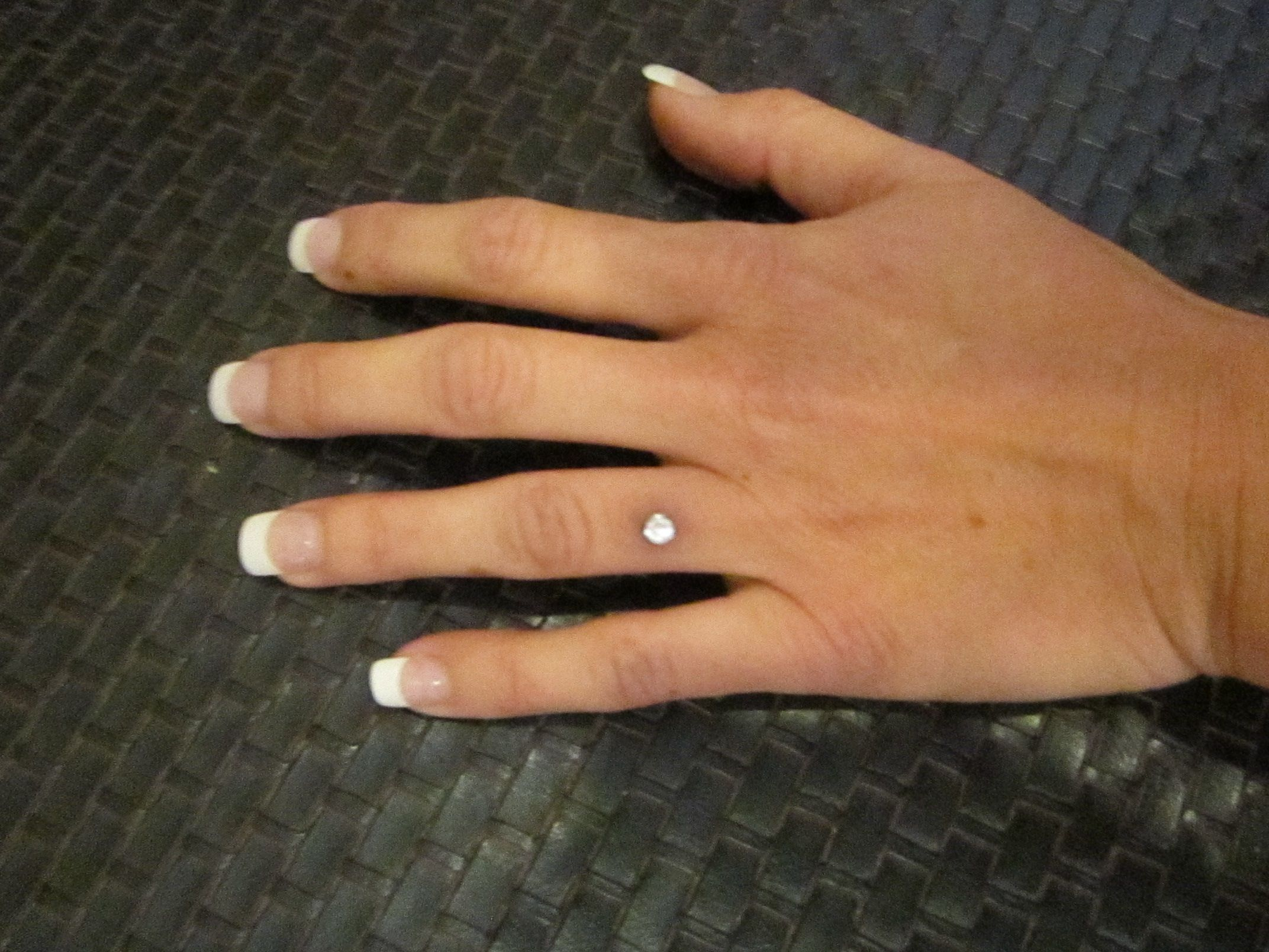 My Dermal Implant Piercing Engagement Ring WHAT A CUTE IDEA