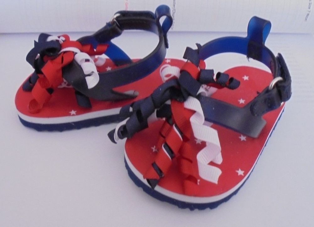 5aa8bf001f6 Carters Baby Sandals Size 3-6 Months Red White   Blue 4th of July  Carters   Sandals