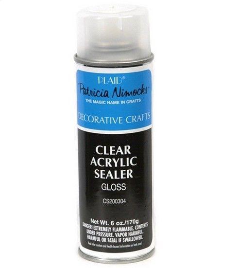 Plaid 6 Oz Gloss Acrylic Sealer Clear Clear Acrylic Acrylic Spray Magic Names