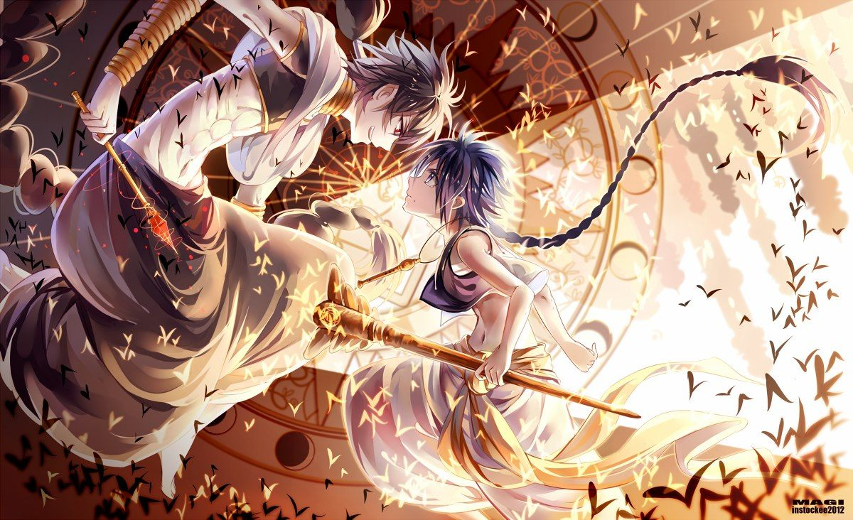 Aladdin And Judal Or Judar From Magi Labyrinth Of Magic Other