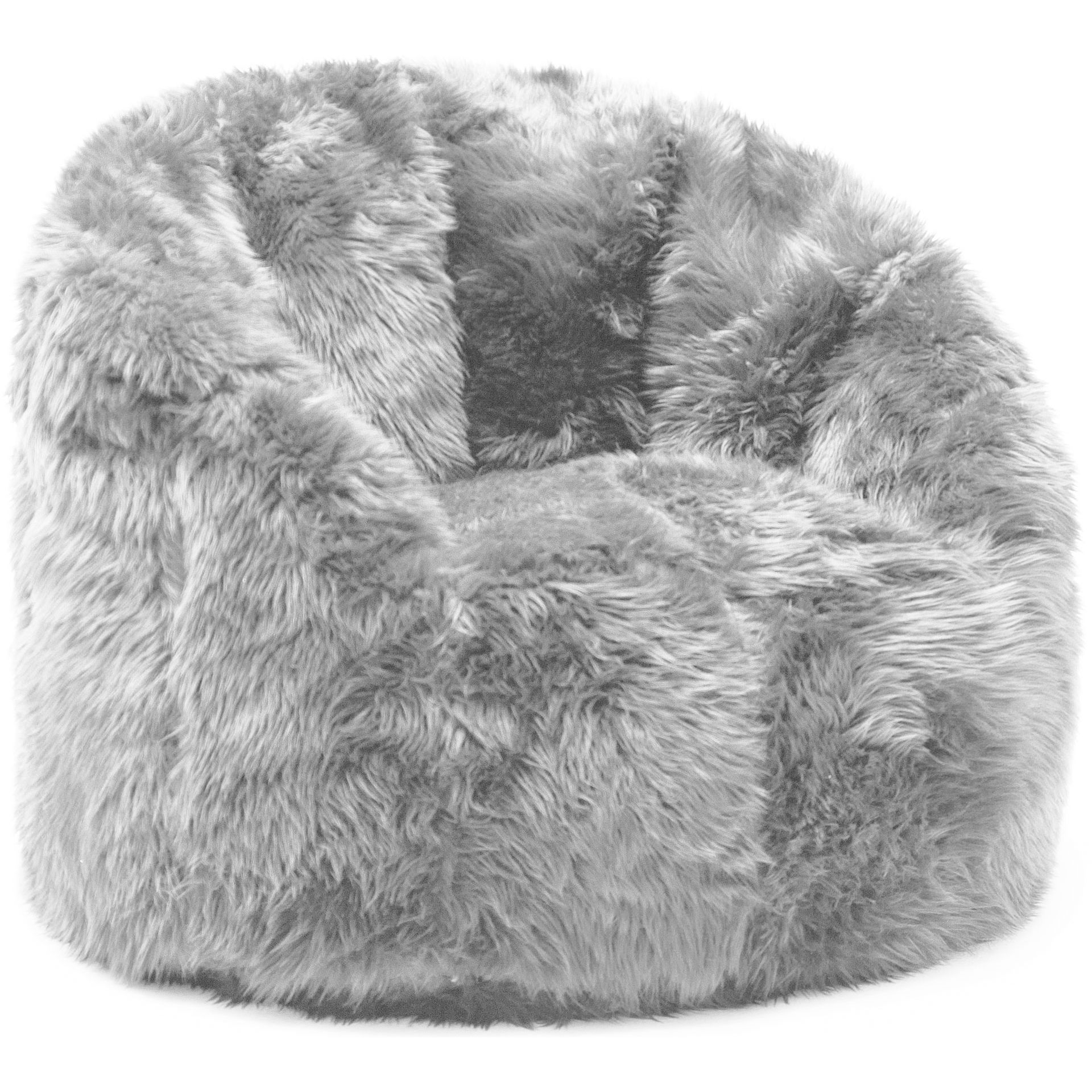 6b195b41c4 Comfort Research BeanSack Big Joe Milano Faux Fur Bean Bag Chair (Grey Faux  Fur)