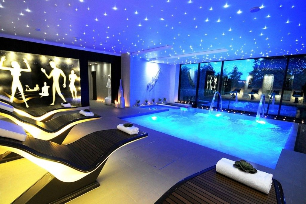 Luxury indoor swimming pool ideas for ultra modern house for Luxury swimming pools