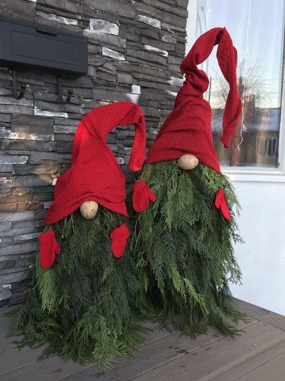 Christmas Gnome Porch #xmasdecorations