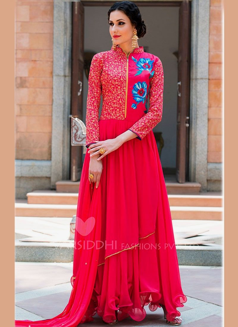 Topnotch hot pink anarkali suit anarkali suits pinterest