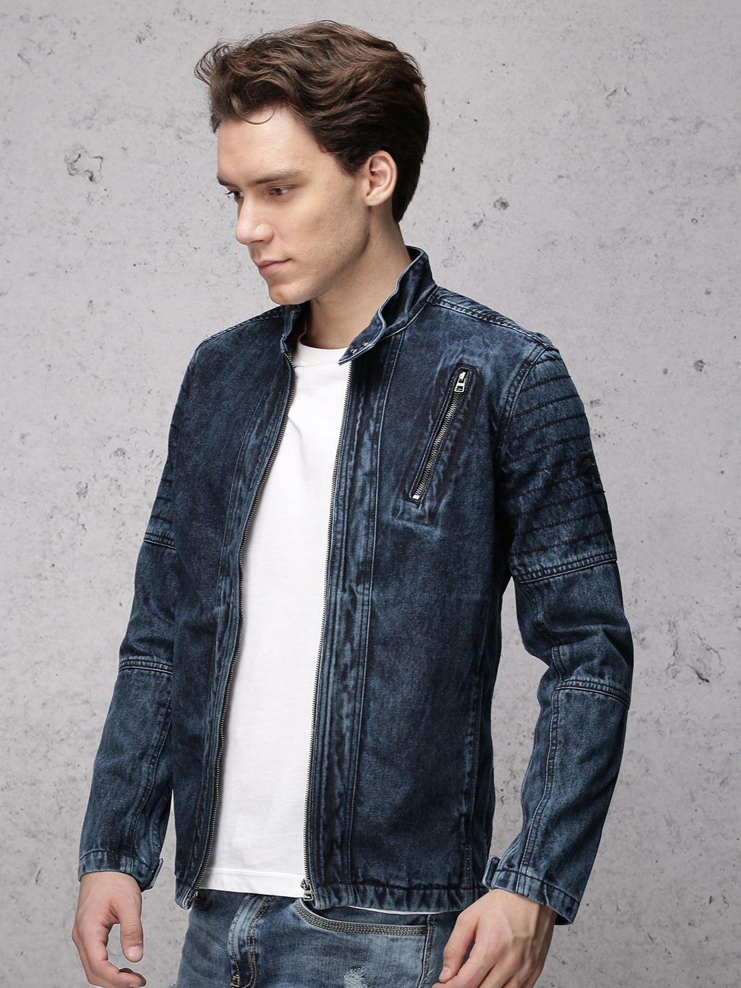 498c74f50b Denim biker jacket - Ecko Unltd India