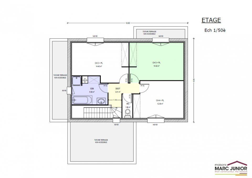 Plan maison 110m2 4 chambres etage ventana blog for Maison 4 chambres etage