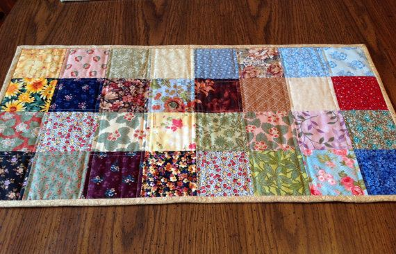 Quilt Table Runner Scrap Quilt Table Topper By Alwaysstitches