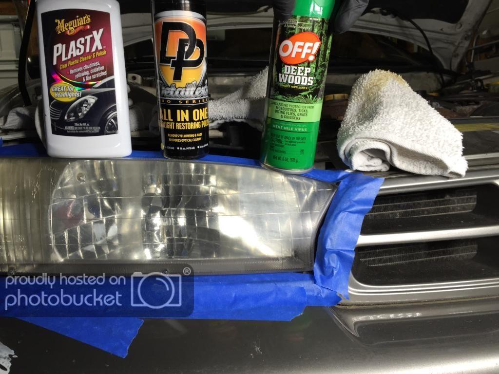 Headlight lens restoration bug spray trick vs dp s aio