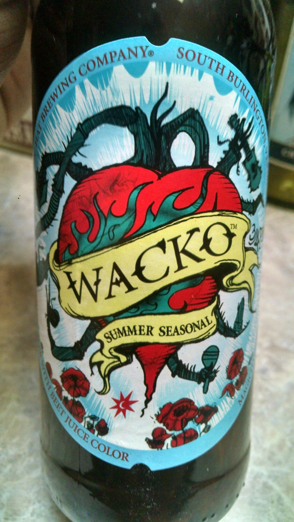 WACKO summer seasonal a beer with beet juice and color by magic hat ...