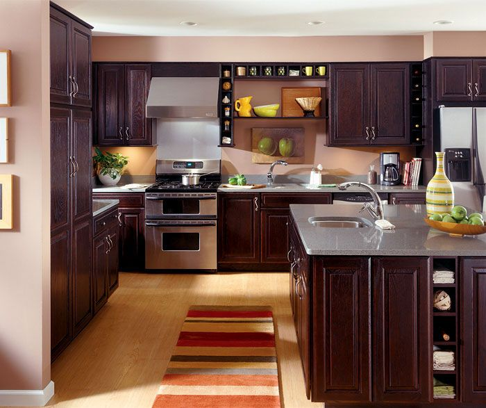 Dark Oak Kitchen Cabinets: Dark Oak Kitchen Cabinets In A Rich Chocolate Finish