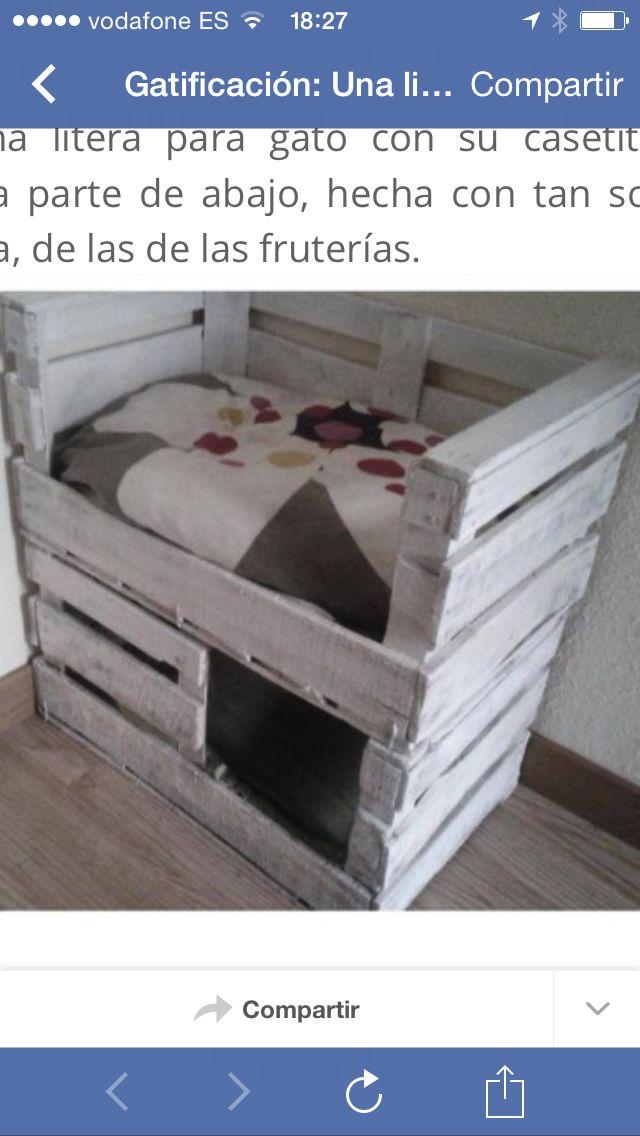 Cama para gatos con 2 cajas de fruta bricolaje - Camas para gatos ...