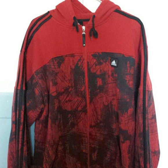 Adidas hoodie Red and black design adidas hoodie Adidas Tops Sweatshirts & Hoodies