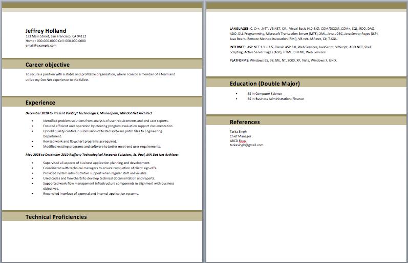 Dot Net Architect Resume Sample Resume Template Architect Resume Sample Architect Resume Sample Resume Templates