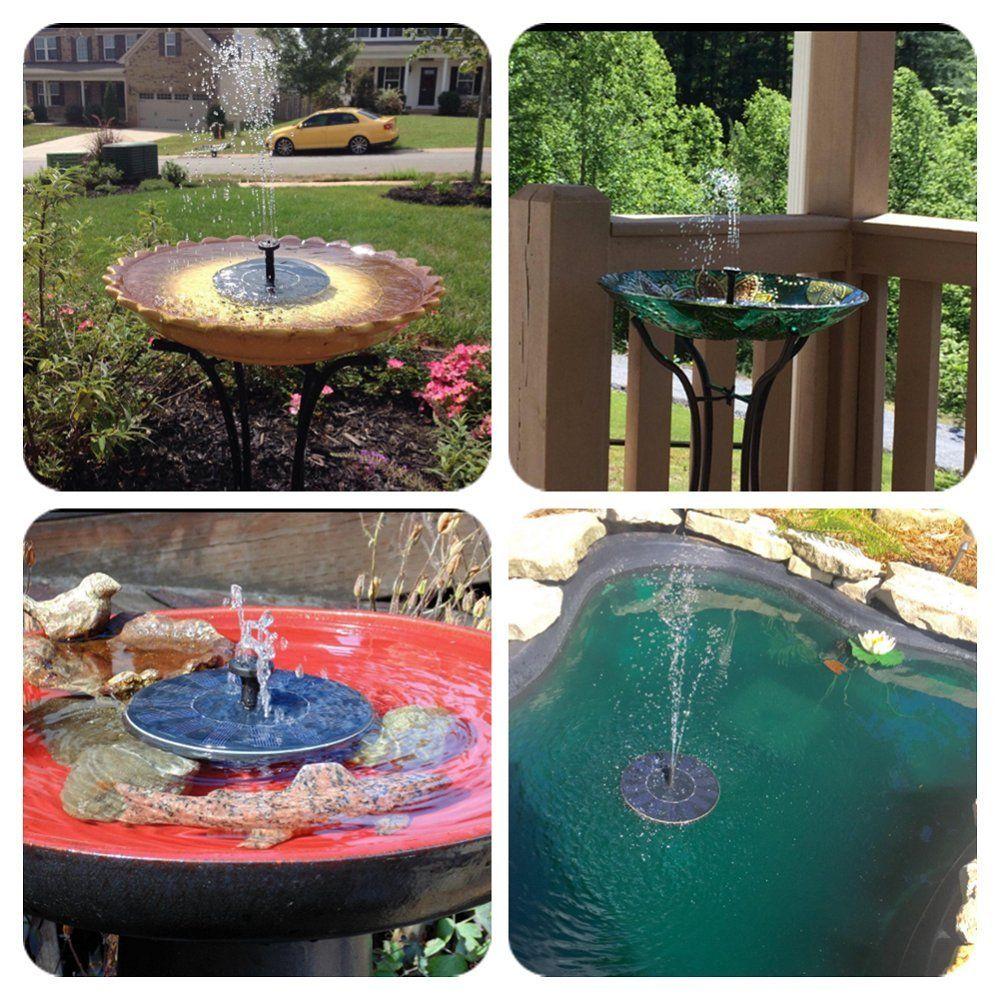 LUXJET 1.4W Floating Solar Fountain Pump Mini Garden Water