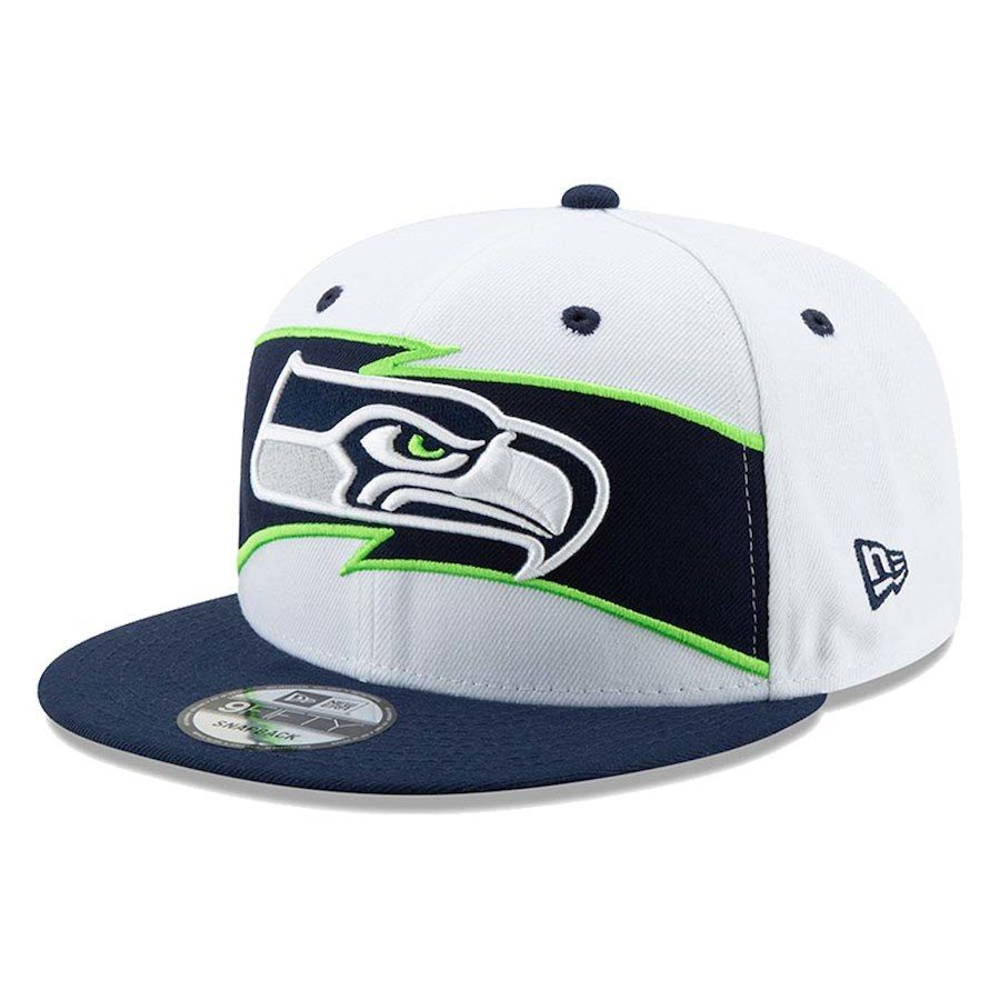 0b2451053 Men s Seattle Seahawks New Era White College Navy Thanksgiving 9FIFTY  Snapback Adjustable Hat