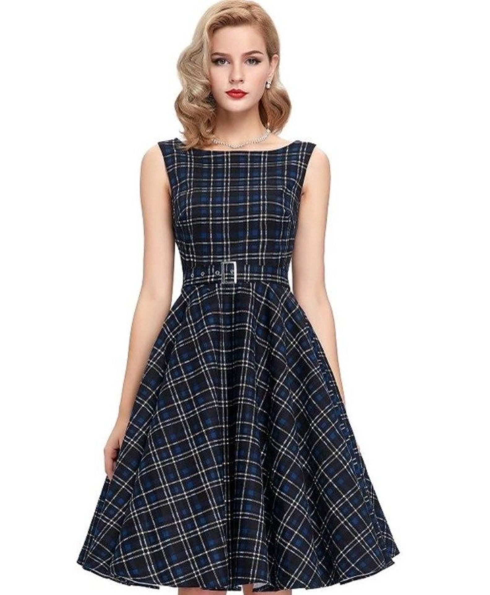 Vintage plaid swing dress plaid swings and s style