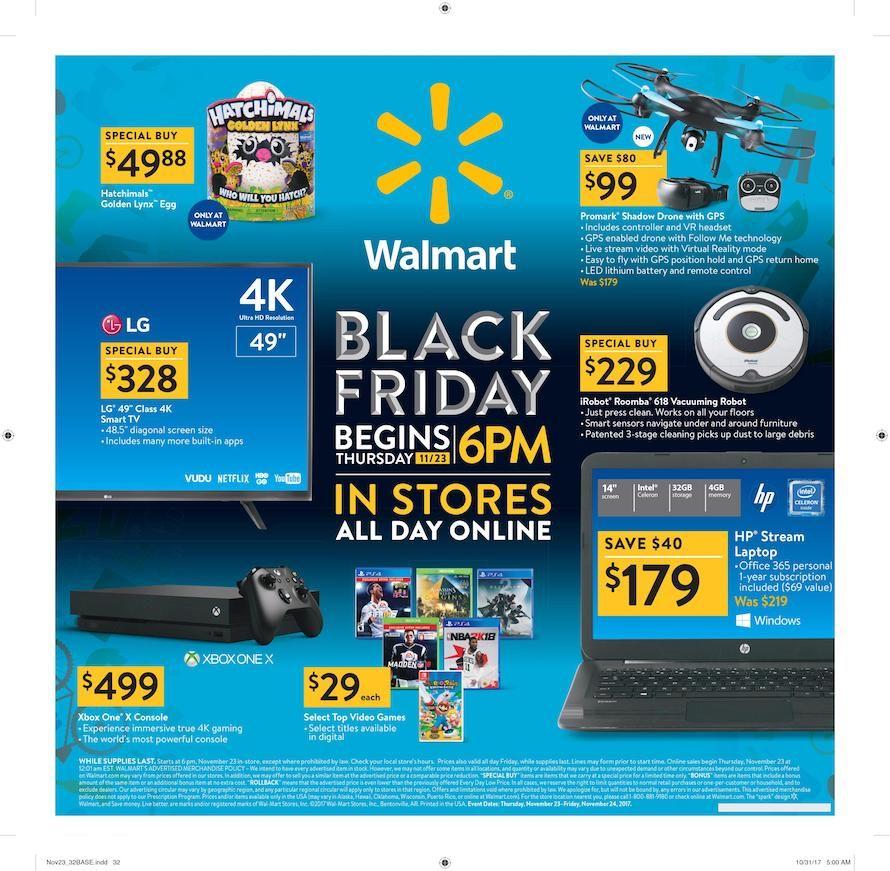 Walmart Black Friday Ad For 2018 Walmart Black Friday Ad Black Friday Ads Black Friday Walmart