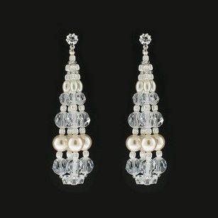 Giavan Swarovski Pearl & Crystal Bauble Earrings Rs130e (e33)