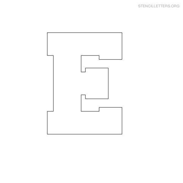 Stencil Letter Block E | camp stencils | Letter stencils, Stencils