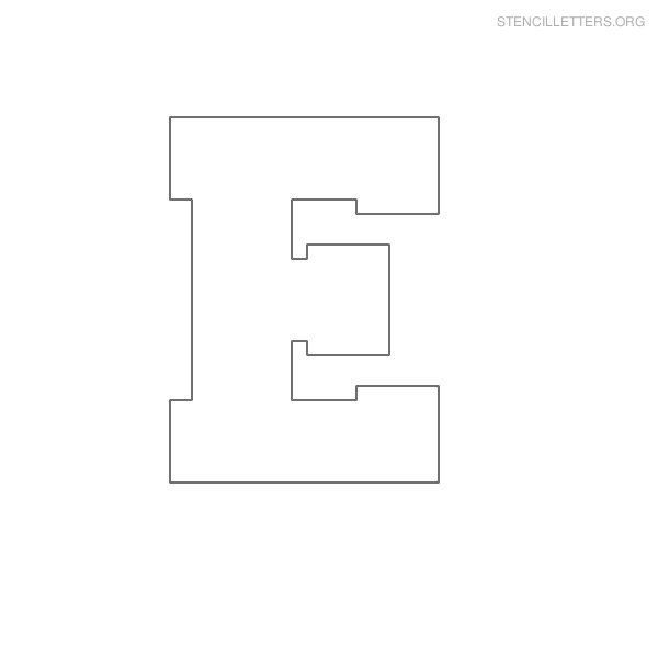stencil letter block e camp stencils pinterest stencil lettering letter blocks and stenciling. Black Bedroom Furniture Sets. Home Design Ideas