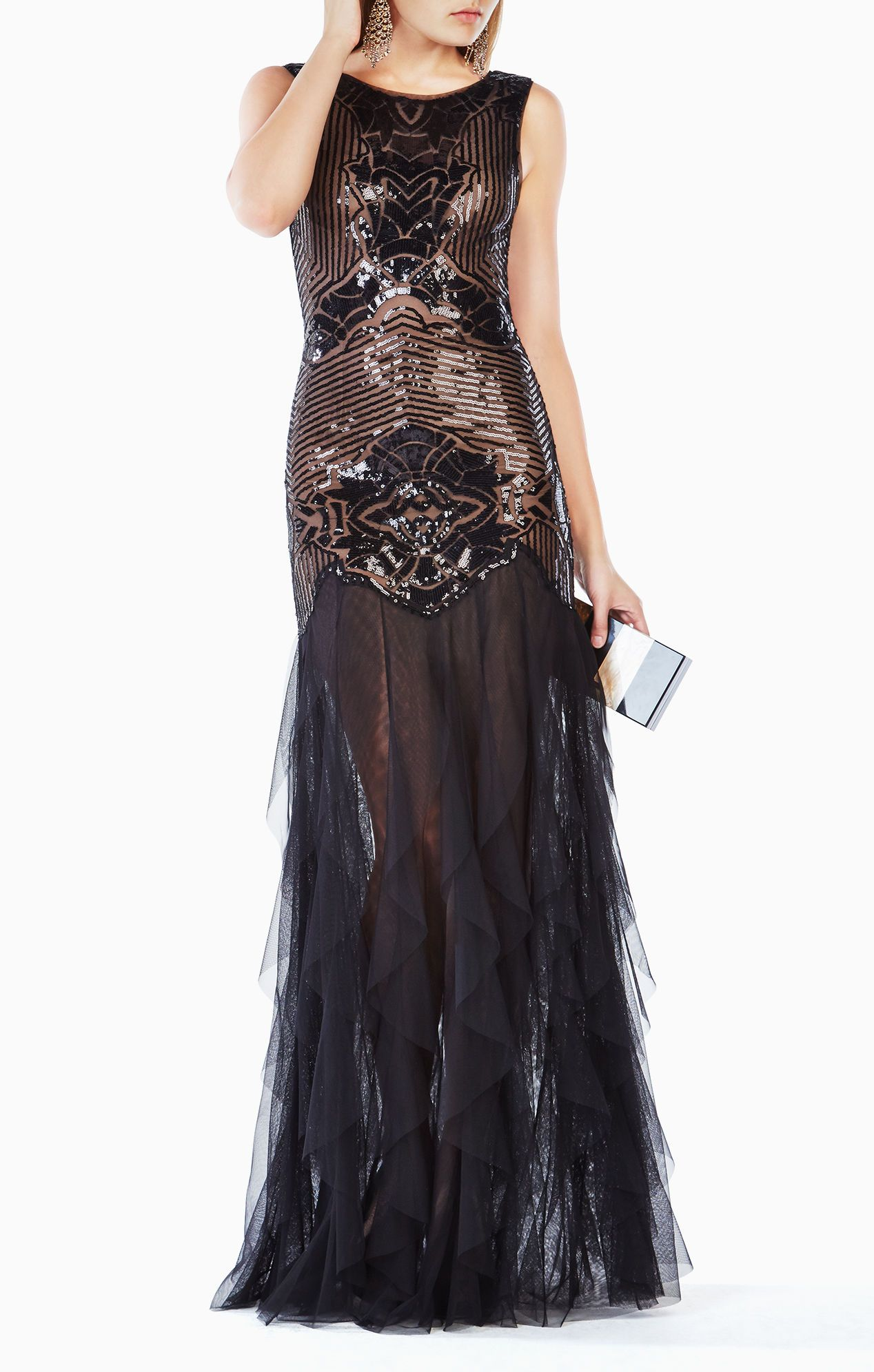 Magdalena Sequined Gown | What to Wear- Glamour | Pinterest | Gowns ...